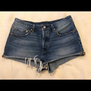 Levi's 501 cutoff denim shorts size 30